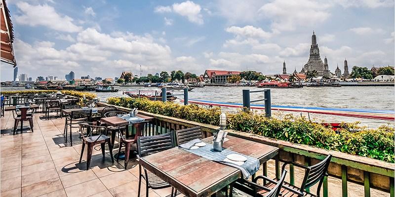 泰國曼谷河畔景觀餐廳   Eat Sight Story Deck-可拍攝鄭王廟正面的泰式餐廳,環境優美浪漫,餐點也好吃。