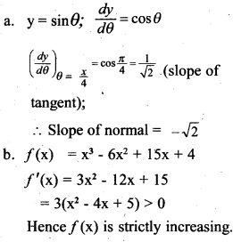 Plus Two Maths Chapter Wise Previous Questions Chapter 6 Application of Derivatives 11