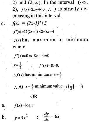 Plus Two Maths Chapter Wise Previous Questions Chapter 6 Application of Derivatives 5