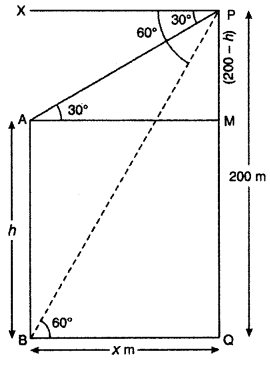 RBSE Solutions for Class 10 Maths Chapter 8 Height and Distance Q.13.2