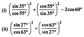 RBSE Solutions for Class 10 Maths Chapter 7 Trigonometric Identities Q.4.1