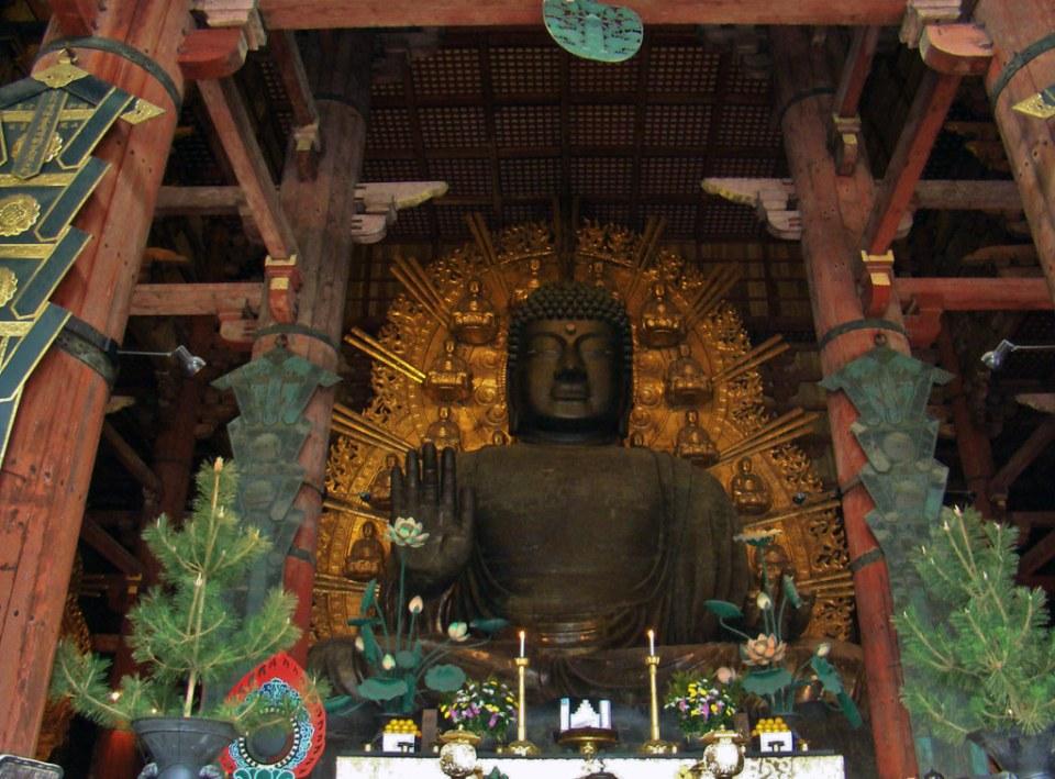 Daibutsu Gran Buda de Nara estatua de bronce salon Daibutsuden Templo Todai-ji Nara Japon 15
