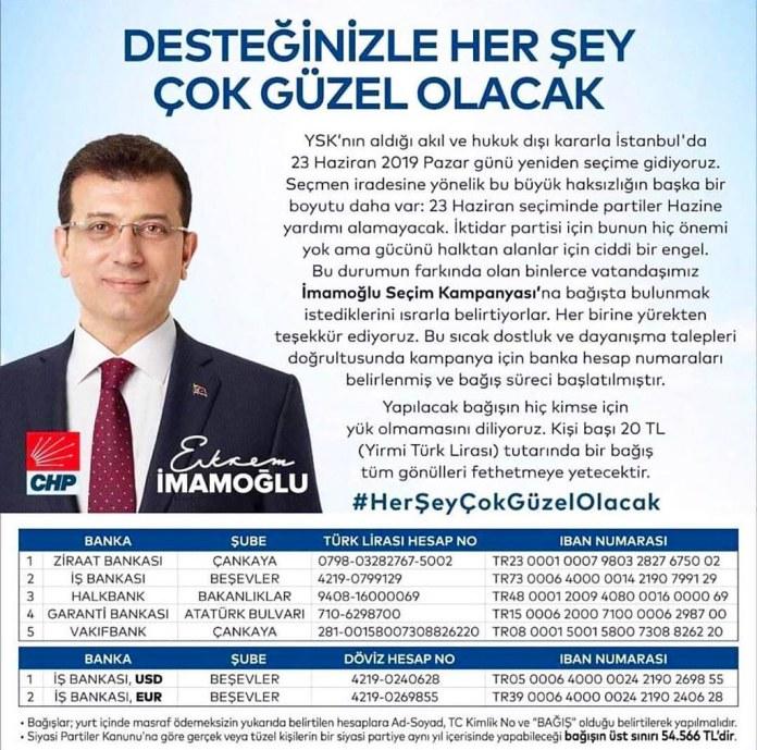 CHP Alanya'dan İmamoğlu kampanyasına davet
