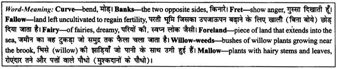 NCERT Solutions for Class 9 English Literature Chapter 6 The Brook 10
