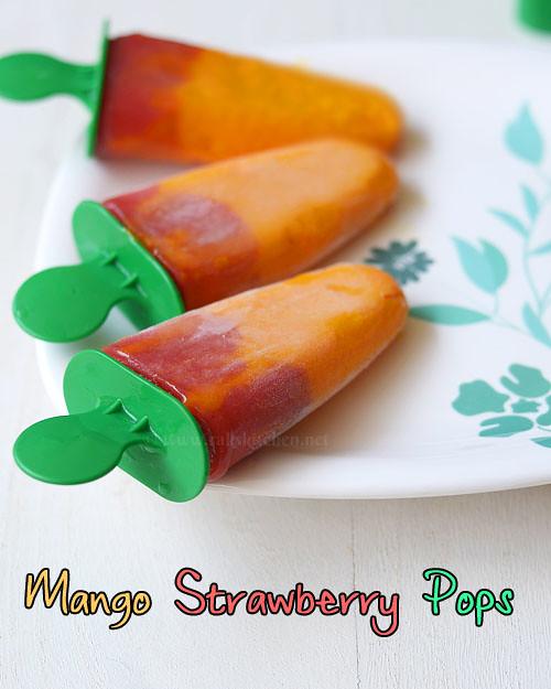 mango strawberry ice