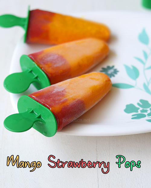 mango strawberry ice