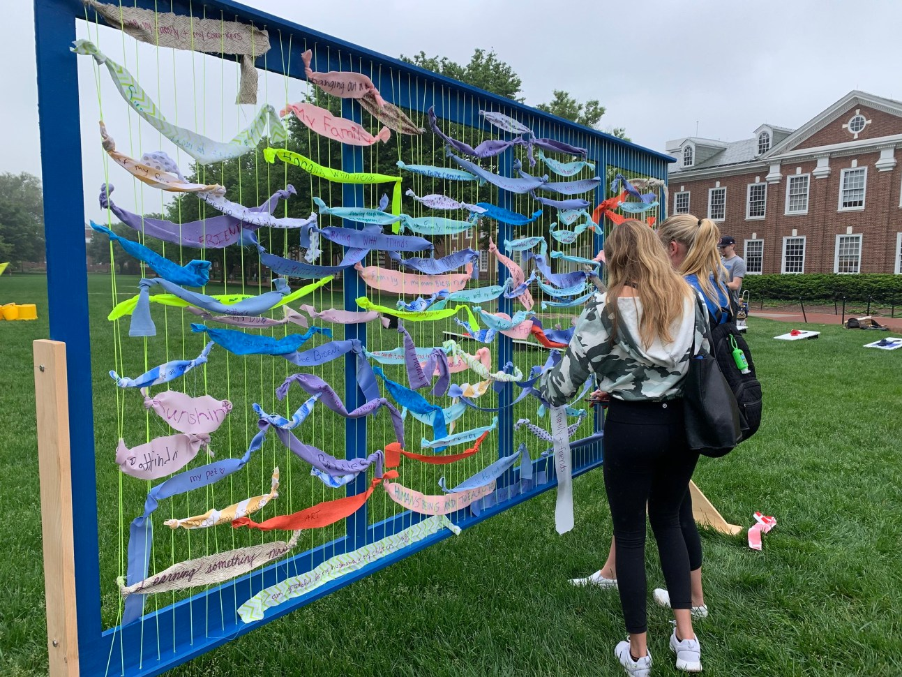 Student Wellness and Health Promotion's art installations on The Green