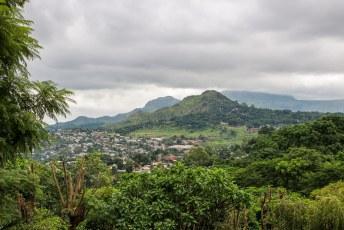 We vonden een leuk hotelletje in het centrum van Blantyre met een redelijk uitzicht.