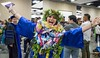 """""""I did it!"""" (Photo credt: Shari Tamashiro) Kapiolani Community College celebrated spring commencement on Friday, May 10, 2019 at the Hawaii Convention Center. More photos: <a href=""""https://kapiolanicc.smugmug.com/Commencement/Commencement-2019"""" rel=""""noreferrer nofollow"""">kapiolanicc.smugmug.com/Commencement/Commencement-2019</a>"""