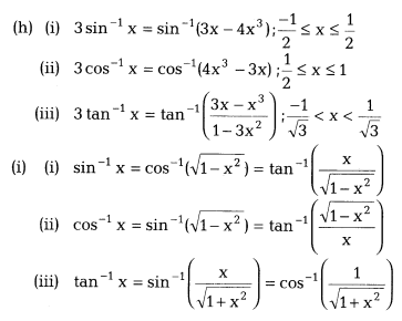 Inverse Trigonometric Functions Class 12 Notes Maths Chapter 2 3