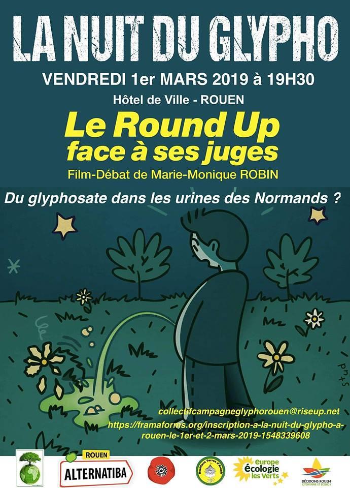 La Nuit du Glyphosate rouennaise.