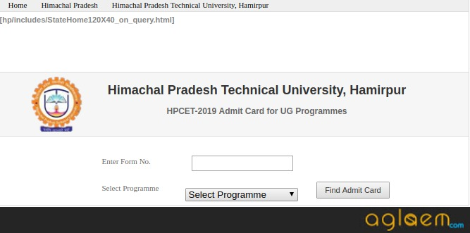 HPCET Admit Card 2021