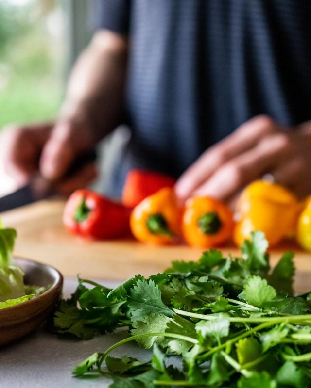 colorful pepper ombré