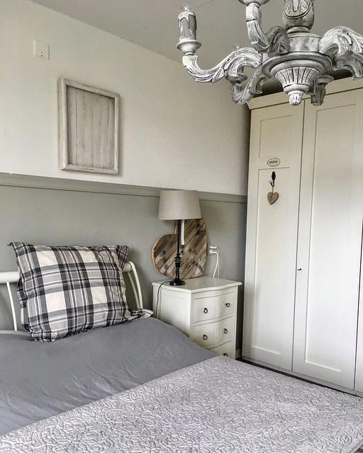 Slaapkamer grijstinten landelijk