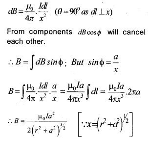 Plus Two Physics Chapter Wise Previous Questions Chapter 4 Moving Charges and Magnetism 14