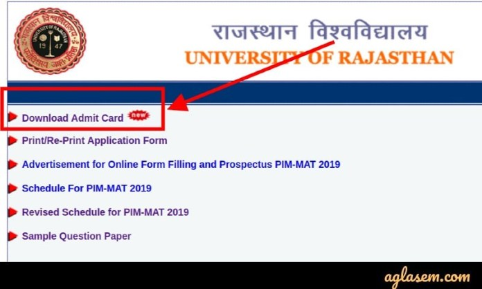 PIM MAT 2019 Admit Card