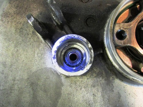 Clutch Push Rod Seal in Rear Transmission Cover-Damaged