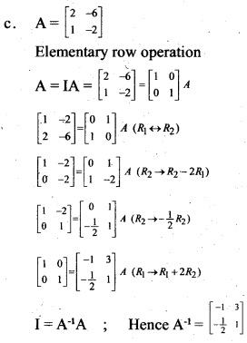 Plus Two Maths Chapter Wise Previous Questions Chapter 3 Matrices 7