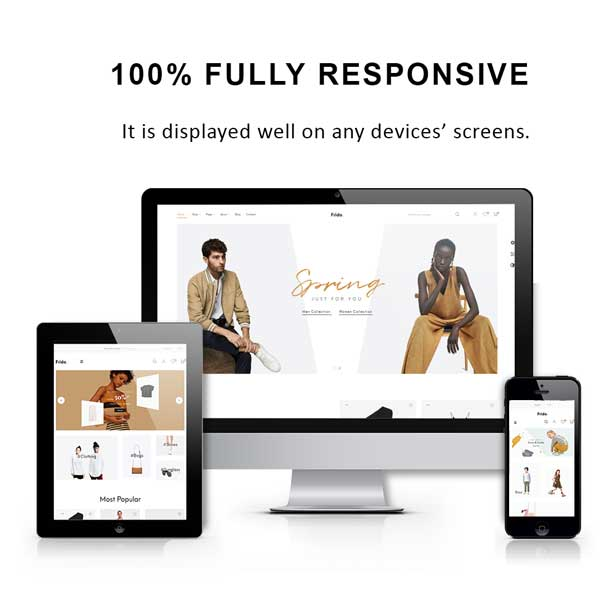 fashion themes 2019 - fully responsive design