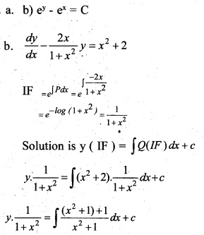 Plus Two Maths Chapter Wise Previous Questions Chapter 9 Differential Equations 12