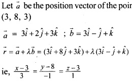Plus Two Maths Chapter Wise Previous Questions Chapter 11 Three Dimensional Geometry 15