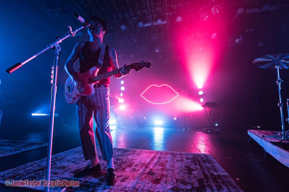 American musician Mitchy Collins of  lovelytheband performing at The Commodore Ballroom in Vancouver, BC on April 19th 2019