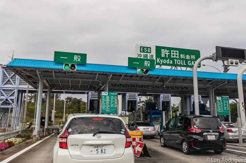 Voies générales (sans ETC) d'un péage d'Okinawa