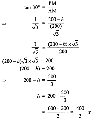 RBSE Solutions for Class 10 Maths Chapter 8 Height and Distance Q.13.3