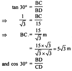 RBSE Solutions for Class 10 Maths Chapter 8 Height and Distance Q.12.2