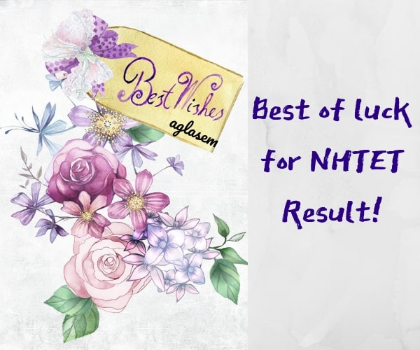 Best of luck for NHTET Result 2019