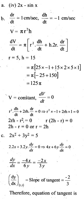Plus Two Maths Chapter Wise Previous Questions Chapter 6 Application of Derivatives 8