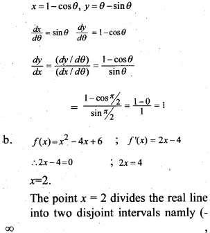 Plus Two Maths Chapter Wise Previous Questions Chapter 6 Application of Derivatives 4