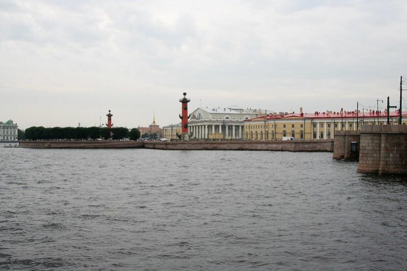 Стрелка Васильевского острова и здание Биржи, Санкт-Петербург