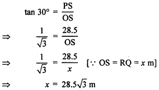 RBSE Solutions for Class 10 Maths Chapter 8 Height and Distance Q.18.2