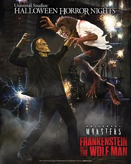 Frankenstein Meets The Wolf Man Maze at Universal Studios Hollywood's Halloween Horror Nights
