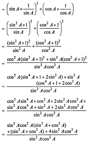 RBSE Solutions for Class 10 Maths Chapter 7 Trigonometric Identities Q.21.1