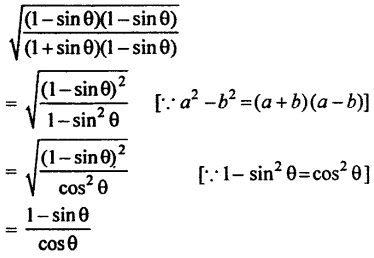 RBSE Solutions for Class 10 Maths Chapter 7 Trigonometric Identities Q.6