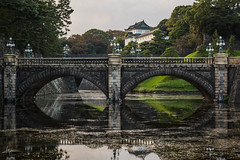 Tokyo imperial palace and gardens.
