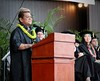 Honolulu Community College celebrated spring 2018 commencement on Friday, May 10, 2018 at the Waikiki Shell. Kini Zamora, internationally known fashion designer and Honolulu CC alum, served as the commencement keynote speaker.