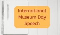 International Museum Day 2019 Speech