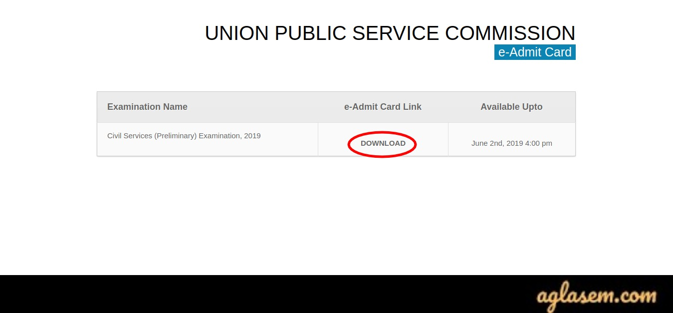 UPSC EPFO Admit Card Download