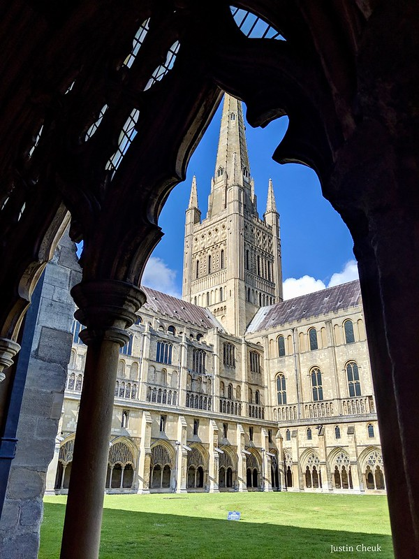 Norwich Cathedral from the Cloisters