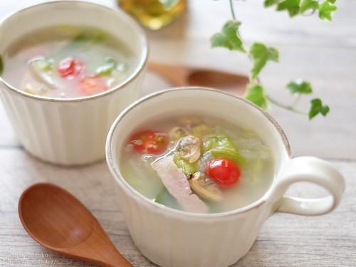 あさりと春キャベツのスープ20190511-DSCT1539 (2)