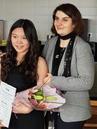 Haley Wong tillsammans med Delphine Constantin Reznik