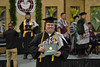 """A graduate walks off stage with his diploma at the Hilo commencement. Hawaii Community College celebrated spring 2019 commencement on Friday, May 10, 2019 at the the Edith Kanakaole Multi-Purpose stadium. Go the Hawaii Community College's Flickr album for more photos from the Hilo ceremony: <a href=""""https://www.flickr.com/photos/53092216@N07/sets/72157680393896768"""">www.flickr.com/photos/53092216@N07/sets/72157680393896768</a>"""