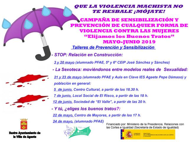 El Ayuntamiento de Agaete apuesta por la sensibilización y prevención ante la violencia de género contra las mujeres