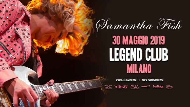 Samantha Fish live at the Legend Club in Milan on Thursday May 30th, 2019