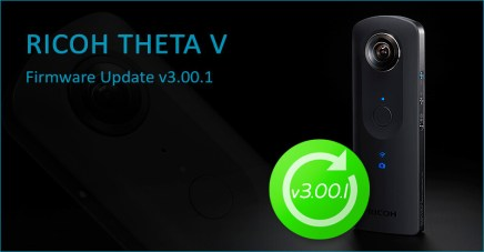 New firmware update v3.00.1 for RICOH THETA V and Plug-ins!