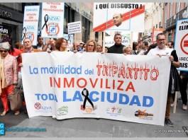 Manifestación contra la gestión Carril Bici
