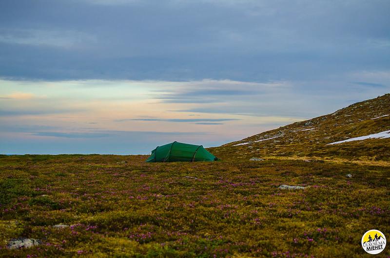 First camp at Hetta-Pallas trail